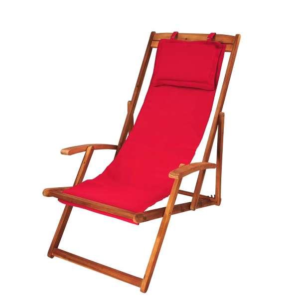 Gartenliege rot, Relaxliege, Sonnenliege, Liegestuhl