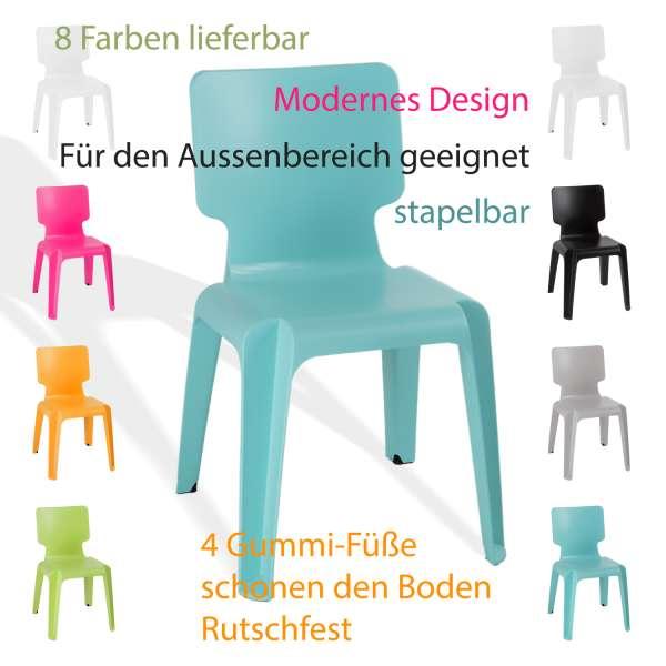 Stapelstuhl, Kunststoff Stuhl Stapelbar Wait robust versch.Farben