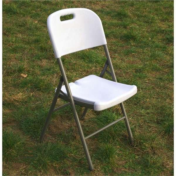 SET 2x Gartenstuhl weiß, klappbar, Klappstuhl, Gastroqualität