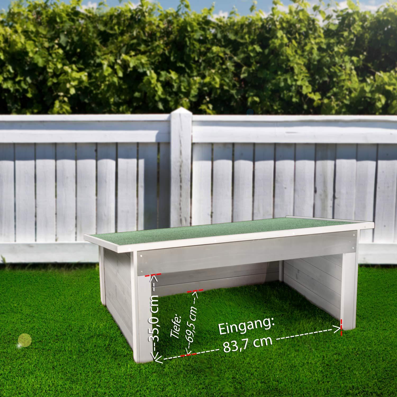 garage f r m hroboter rasenm her gro massivholz. Black Bedroom Furniture Sets. Home Design Ideas