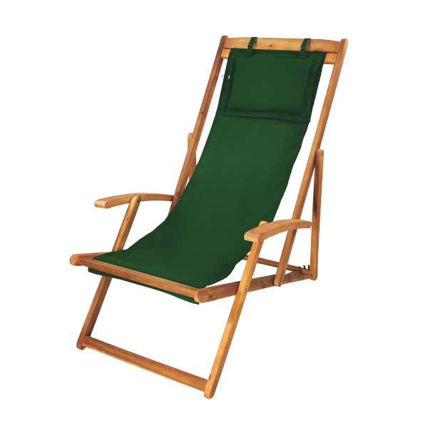 Gartenliege grün, Relaxliege, Sonnenliege, Liegestuhl