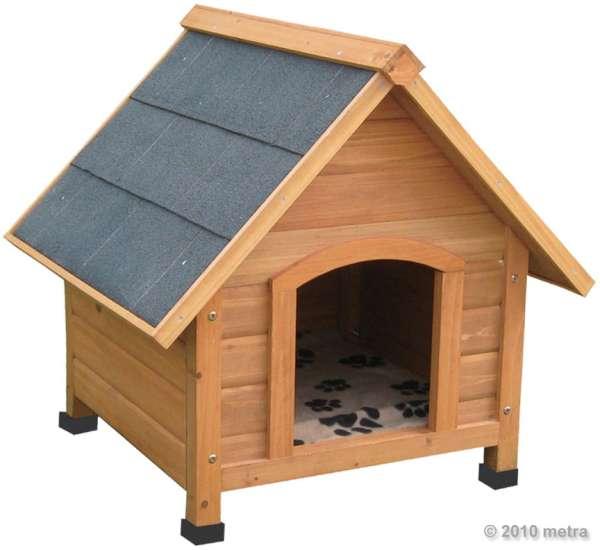 Hundehütte, Massivholz, spitzdach 70 x 60 x 75 cm
