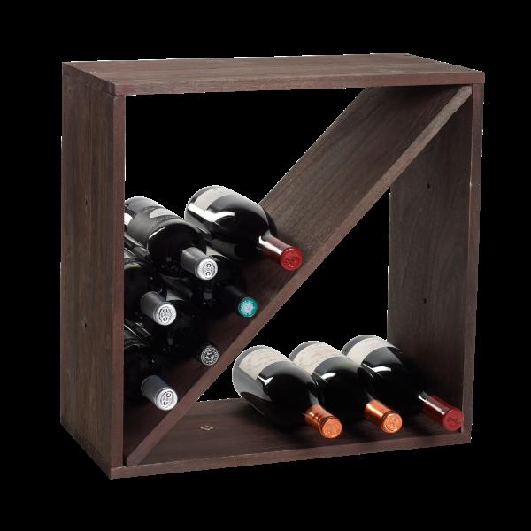 Weinflaschen-Regalsystem, braun, Z-Form,