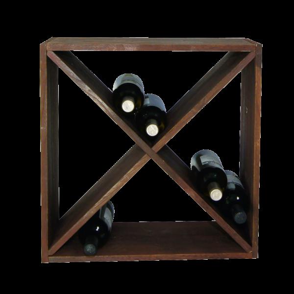 Weinflaschen-Regalsystem, x-form, braun