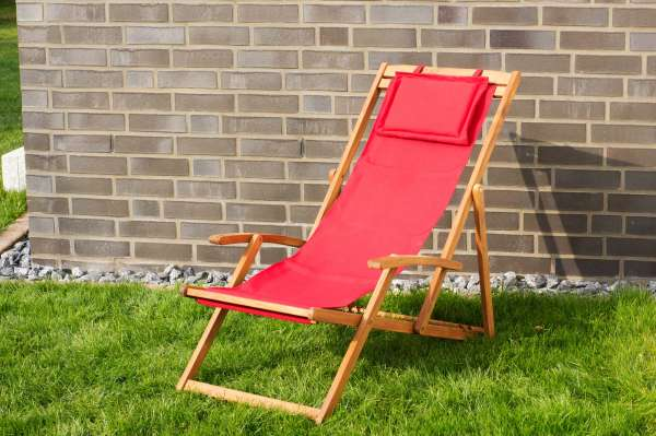 Relax Sonnenliege, rot
