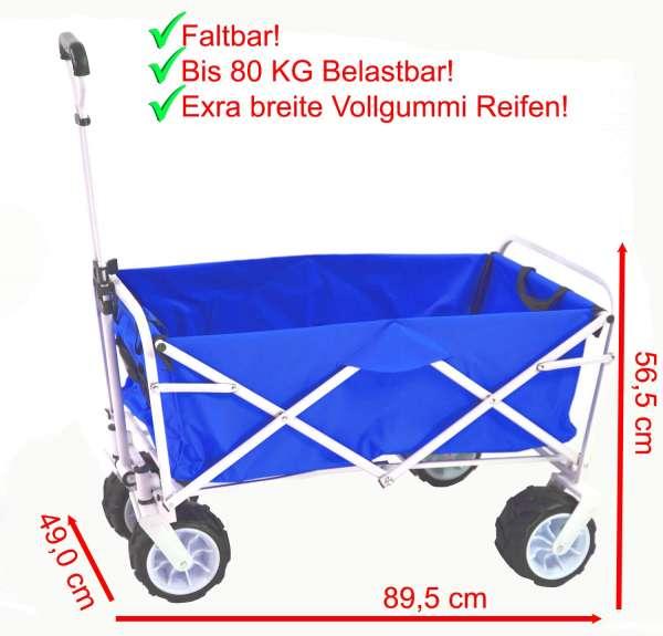 Bollerwagen, Strandwagen, Transportwagen blau