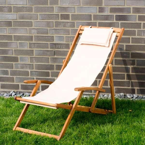 Relax Sonnenliege, beige