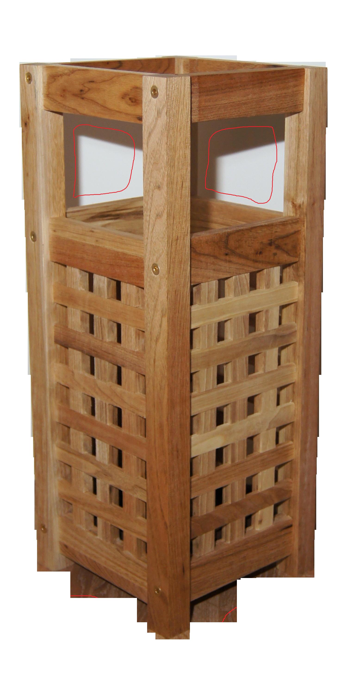 schirmst nder aus walnussholz gitterdesign aus walnussholz m bel und wohnen. Black Bedroom Furniture Sets. Home Design Ideas